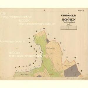 Chrobold - c2651-1-001 - Kaiserpflichtexemplar der Landkarten des stabilen Katasters