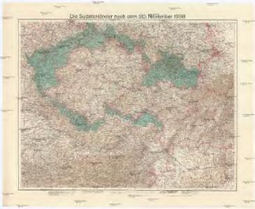 Die Sudetenländer nach dem 20. November 1938