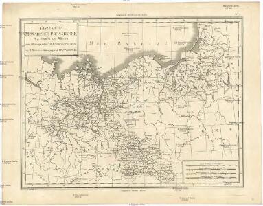 Carte de la monarchie prussienne, a l'orient du Weser