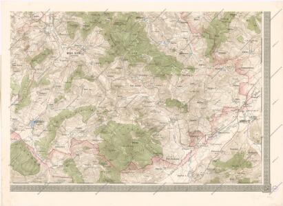 Mapa politického okresu Domažlického