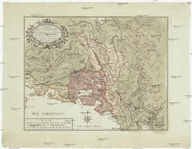 Carte de la partie d'Albanie occupée par le Bacha de Scutari, le district des Montenegrins, et partie des territoires des Rep. de Venise, et de Raguse