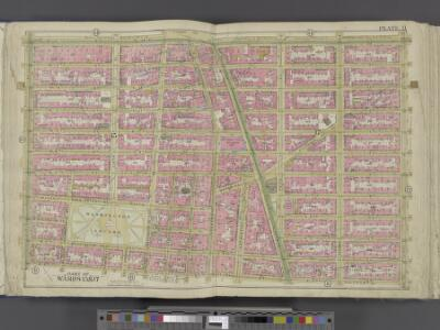 Manhattan, Double Page Plate No. 11 [Map bounded by E. 14th St., 1st Ave., W. 3rd St., 6th Ave.]