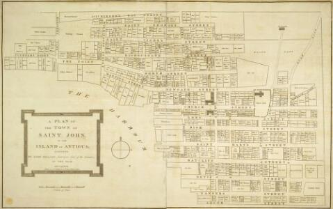 A PLAN OF THE TOWN OF ST JOHN IN THE ISLAND OF ANTIGUA