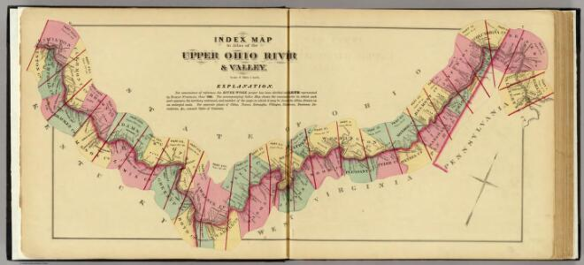 Index map to Atlas of the Upper Ohio River & Valley.