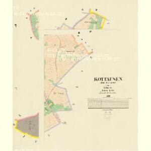 Kottausen (Kotausow) - c3419-1-002 - Kaiserpflichtexemplar der Landkarten des stabilen Katasters