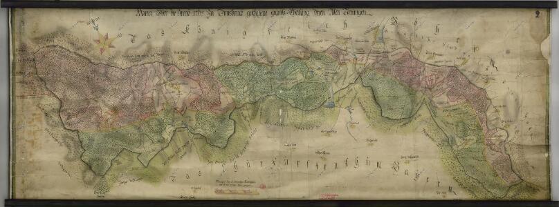 Hraniční mapa-zemská hranice mezi Folmavou a Fleky