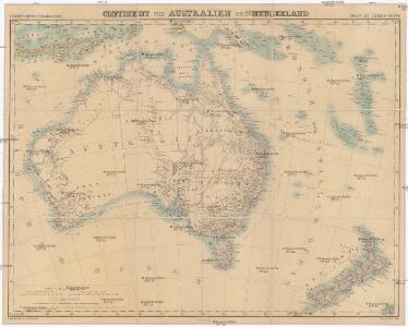 Continent von Australien und Neuseeland