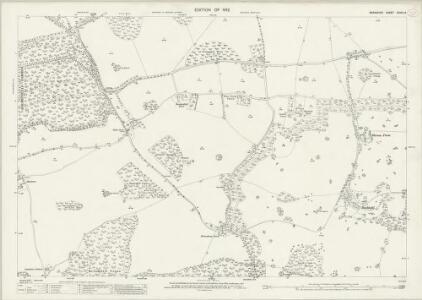 Berkshire XXVIII.14 (includes: Ashampstead; Bradfield) - 25 Inch Map