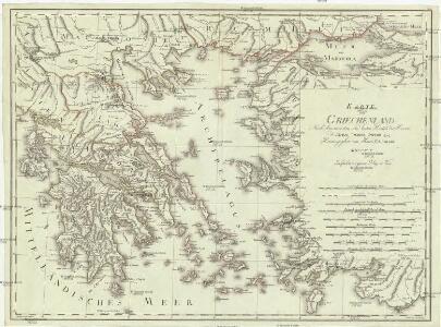 Carte von Griechenland