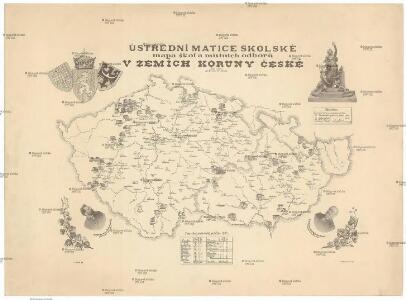 Ústřední matice školské mapa škol a místních odborů v zemích Koruny české