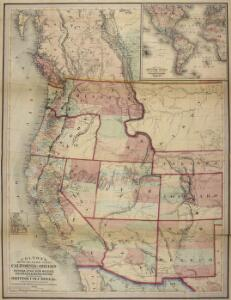 Colton's Map of the Pacific States California & Oregon with the territories of Nevada, Utah, New Mexico, Colorado & Washington in connection with British Columbia, etc.