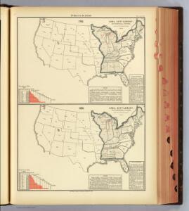 13. 1790, 1800 area, settlement, territorial divisions.