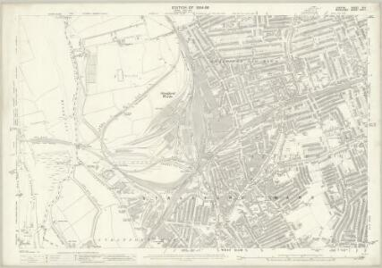 London (Edition of 1894-96) XLII (includes: Cann Hall; West Ham) - 25 Inch Map