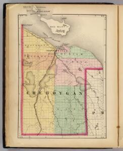 (Map of Cheboygan County, Michigan)