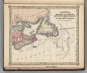 Newfoundland, Nova Scotia, New Brunswick, Cape Breton and Prince Edward Islands.
