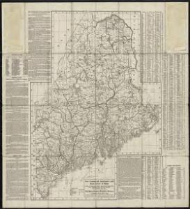 New commercial, sportsmen's and route survey of Maine : showing all postoffices, railroads, electric roads, principal highways, lighthouses, camps and trails, with index showing population latest census