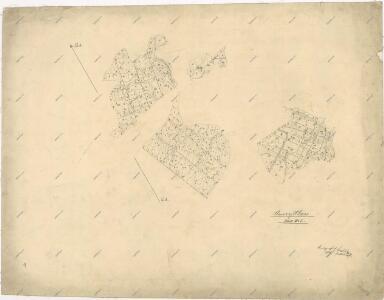 Mapa části polesí Plasy