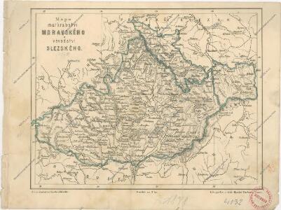 Mapa markrabství moravského a vévodství slezského