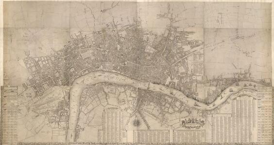 London &c., accurately surveyed by Wm Morgan, His Majesty Cosmographer