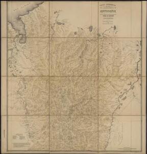 Carta geografica del departamento de Antioquia