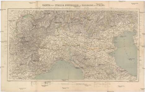 Carta dell' Italia Superiore coi Passaggi delle Alpi