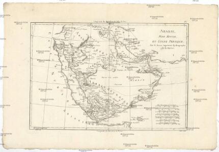 Arabie, mer Rouge, et Golfe Persique
