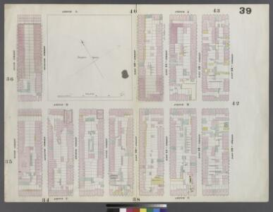 Plate 39: Map bounded by East 13th Street, Avenue C, 6th Street, Avenue A