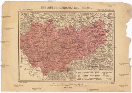 Generalkarte der Bezirkshauptmannschaft Prachatitz