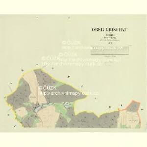 Ober Grischau - c2147-1-001 - Kaiserpflichtexemplar der Landkarten des stabilen Katasters