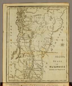 State of Vermont Drawn and Engraved.