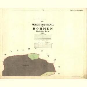 Wadetschlag - c7596-1-001 - Kaiserpflichtexemplar der Landkarten des stabilen Katasters
