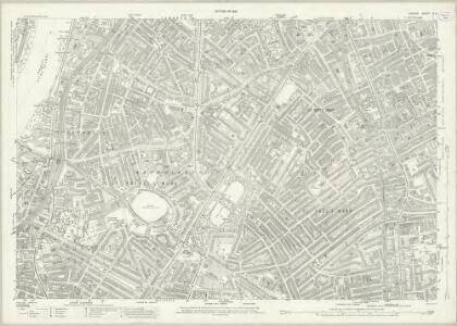London (1915- Numbered sheets) IX.2 (includes: Lambeth St Mary; Southwark) - 25 Inch Map