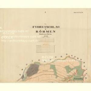 Frydetschlag - c0097-1-001 - Kaiserpflichtexemplar der Landkarten des stabilen Katasters