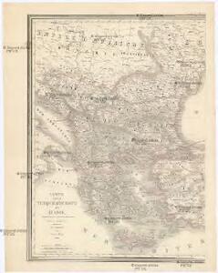 Carte de la Turquie d'Europe et d'Asie