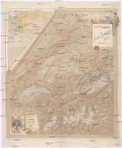 Touristen-Karte der Schweiz