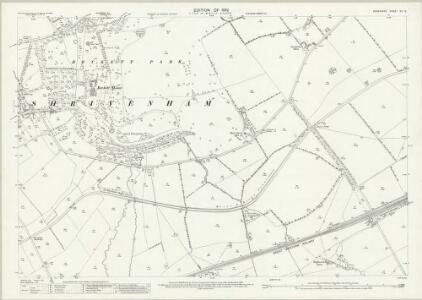 Berkshire XII.12 (includes: Ashbury; Compton Beauchamp; Longcott; Shrivenham; Watchfield) - 25 Inch Map