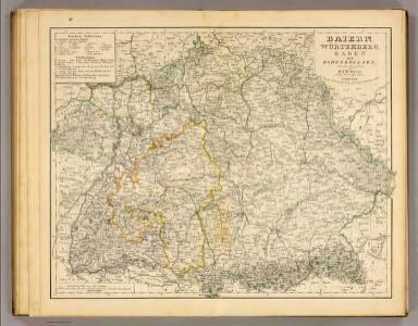 Baiern, Wurtemberg, Baden u. Hohenzollern.
