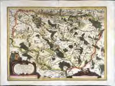Carte geometrique des environs de l'estang de Longpendu, d'ont leau tombe dans l'ocean et dans la Mediterranee