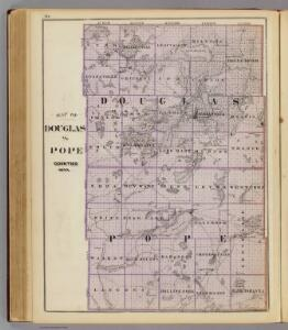 Map of Douglas and Pope counties, Minn.