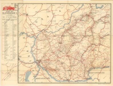 Braun: Autová mapa I-III (Slovensko, Podkarpatská Rus)