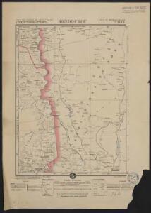 Carte des colonies de l'A.O.F. Bondoukou