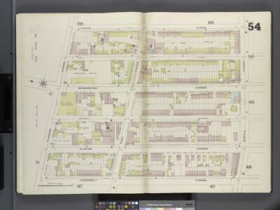 Brooklyn V. 2, Double Page Plate No. 54 [Map bounded by Ryerson St., Myrtle Ave., Vanderbilt Ave., Flushing Ave.]