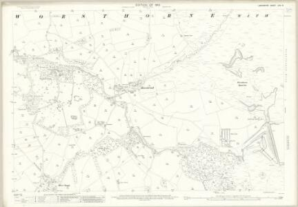Lancashire LXIV.8 (includes: Cliviger; Worsthorne With Hurstwood) - 25 Inch Map