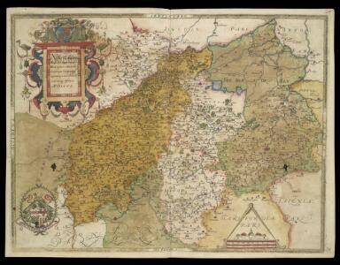 NORTHAMTON, Bedfordiae, Cantabrigiae,, Huntingdoniae et Rutlandiae Comitatum