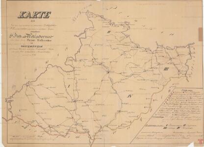 Karte der Kaiser-Königl mährisch und schlesischen Zollgefällen Administration unterstehenden sämtlichen AemterVinzenz Hassenmüller