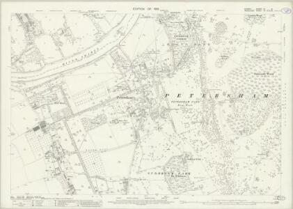Surrey VI.8 (includes: Ham; Petersham; Twickenham St Mary The Virgin) - 25 Inch Map