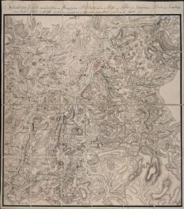 Situations Carte von der teutschen und französischen Positionen an der Mosel und Saar in der Gegend von Trier und Saarburg im Jahr 1793 und 1794