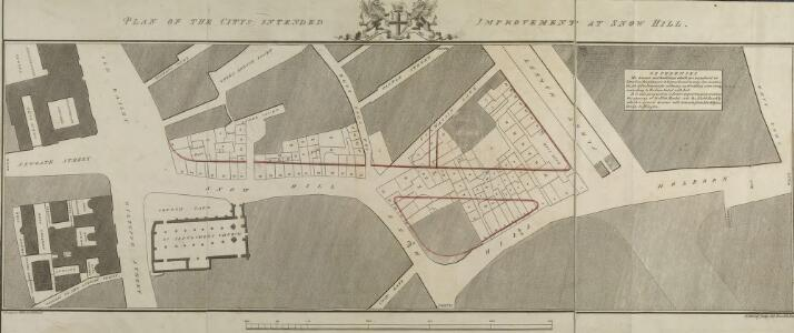 PLAN OF THE CITYS INTENDED IMPROVEMENT AT SNOW HILL
