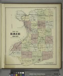 Map of Erie County