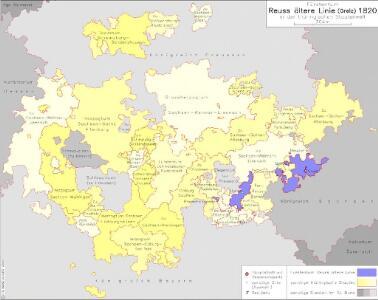 Fürstentum Reuß ältere Linie (Greiz) 1820 in der thüringischen Staatenwelt